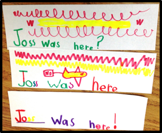 kindergarten writing punctuation