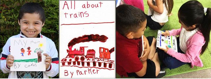 kindergarten writing with Nellie Edge