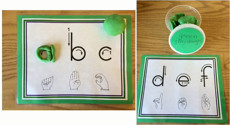 abc and fingerspelling mats