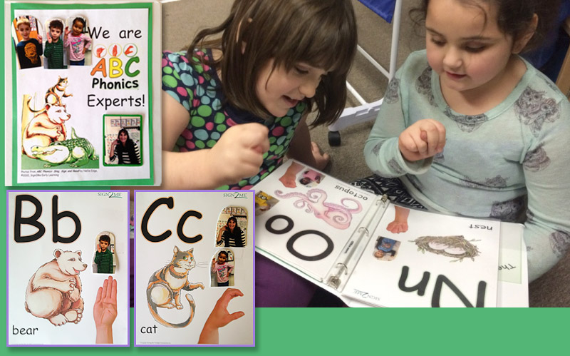 Celebrate kindergartners as ABC Phonics and fingerspelling experts