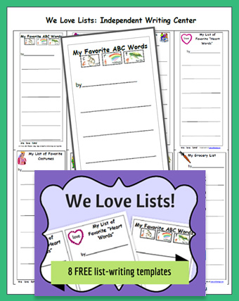 we love lists - lessons for teachers