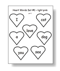 heart word templates - nellie edge