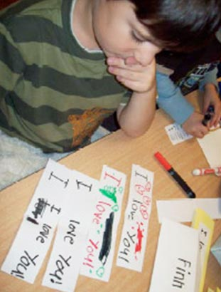 kindergarten friendly handwriting