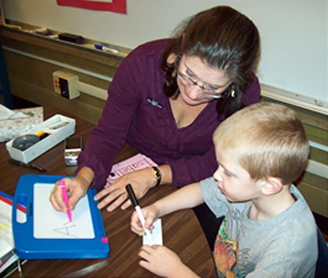 teach kindergartners handwriting