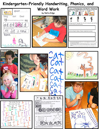 Kindergarten-Friendly Handwriting, Phonics, and Word Work