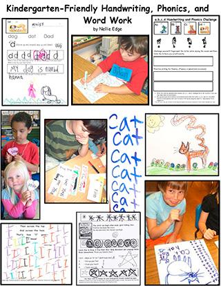 Kindergarten-Friendly Handwriting, Phonics, and Word Work