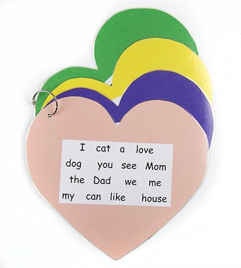 heart word classroom props
