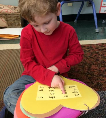 heart word lesson for kindergartners