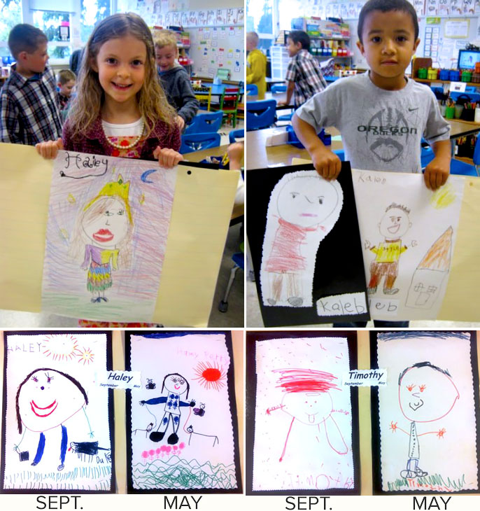 kindergartners drawings