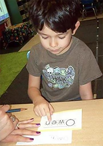 teach kindergartners handwriting