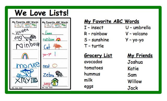 We Love Lists Tote Label