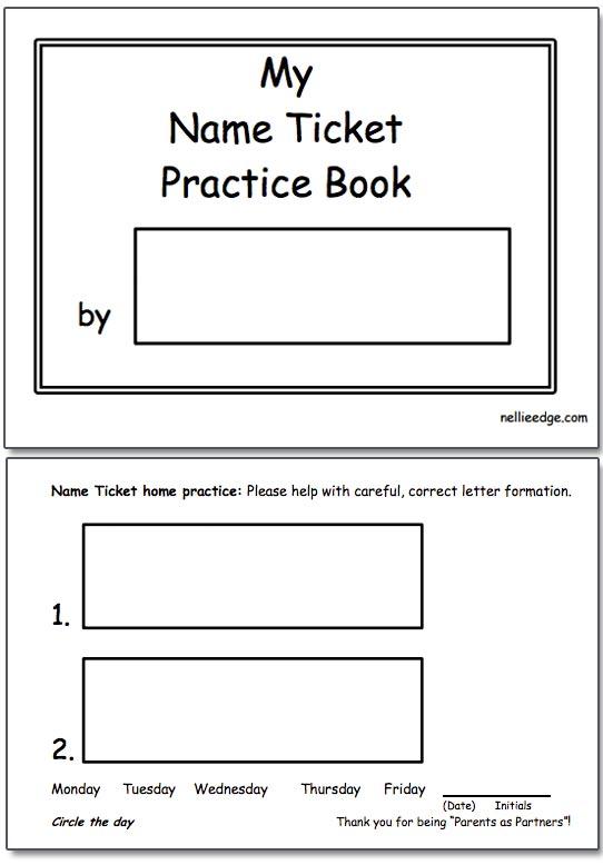 Kindergarten Name Printing Worksheets