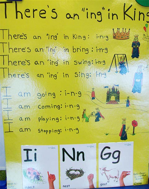 "learn how to spell ""ing"""