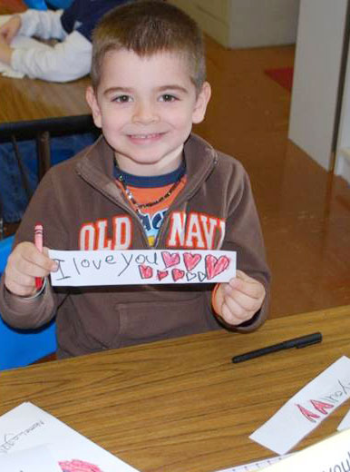 kindergarten writing lesson