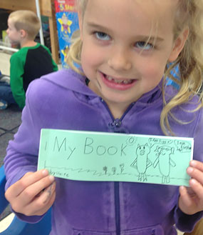 Kindergartners Love to Make Stamp and Read Books