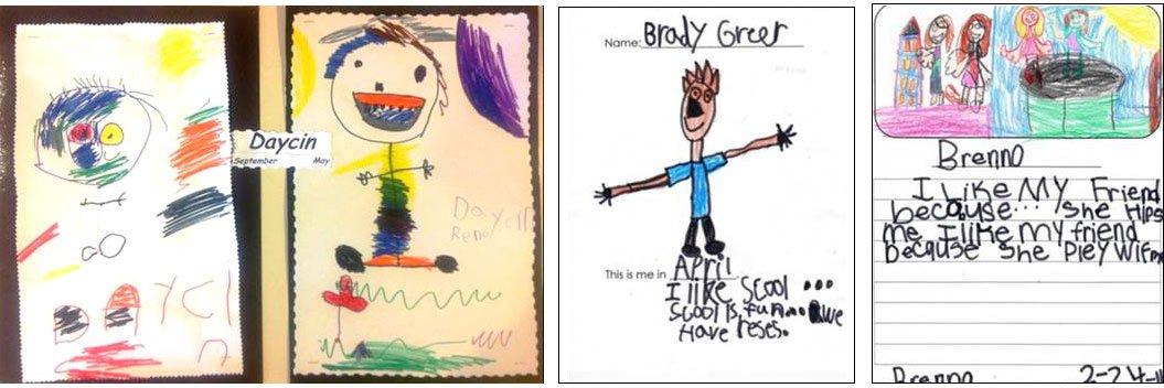 drawings from kindergartners