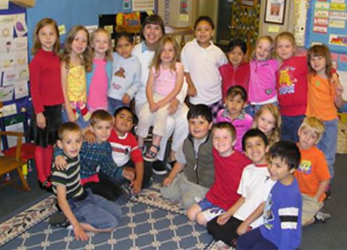 kindergarten classroom with Becky Leber