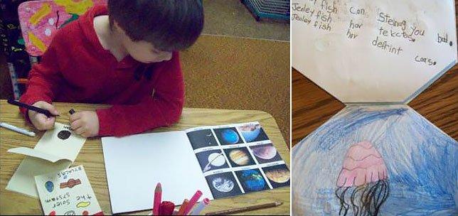 kindergarteners illustrate books