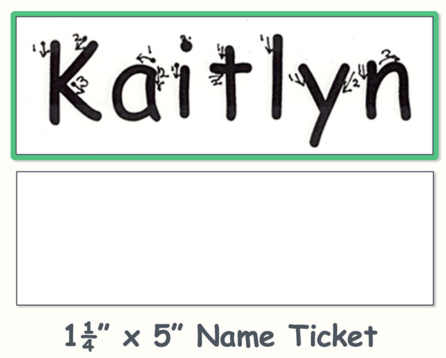 Name Ticket practice