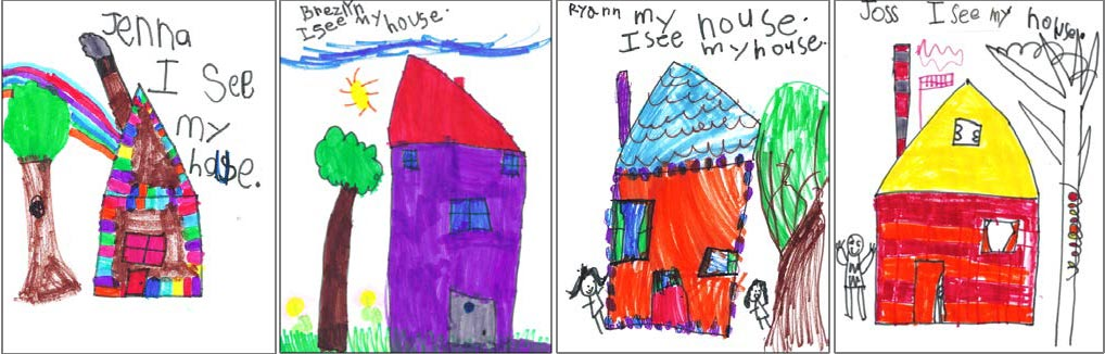 narrative storytelling and drawing - houses