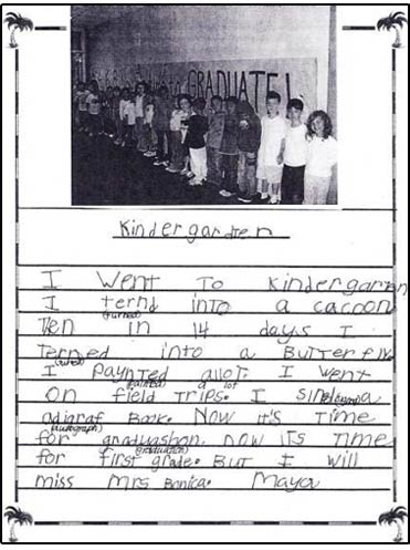 end-of-year writing in kindergarten