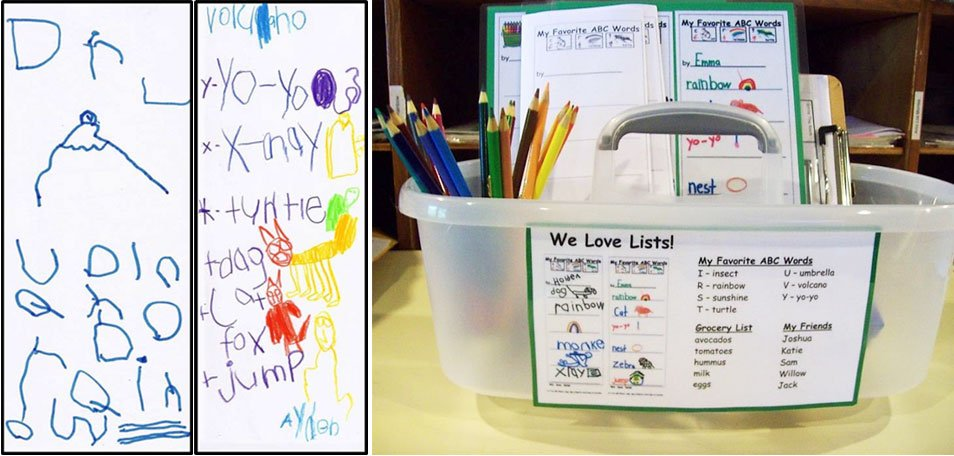 Independent Writing and Drawing Word Work totes