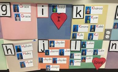 heart word chart