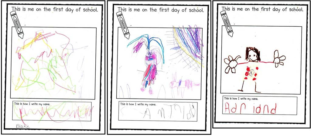 Assessment documentation from kindergarten