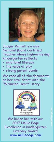 Master kindergarten teacher Jacque Verrall, NBCT