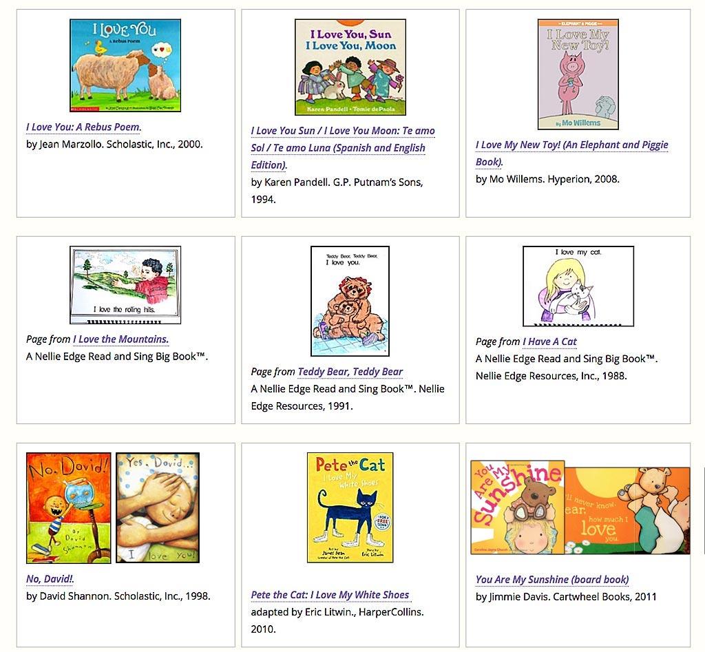 "Enjoy Children's Books That Say, ""I love you..."""