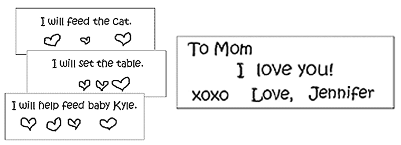 Kindergarten Writing Connecetions: Write Love Coupons