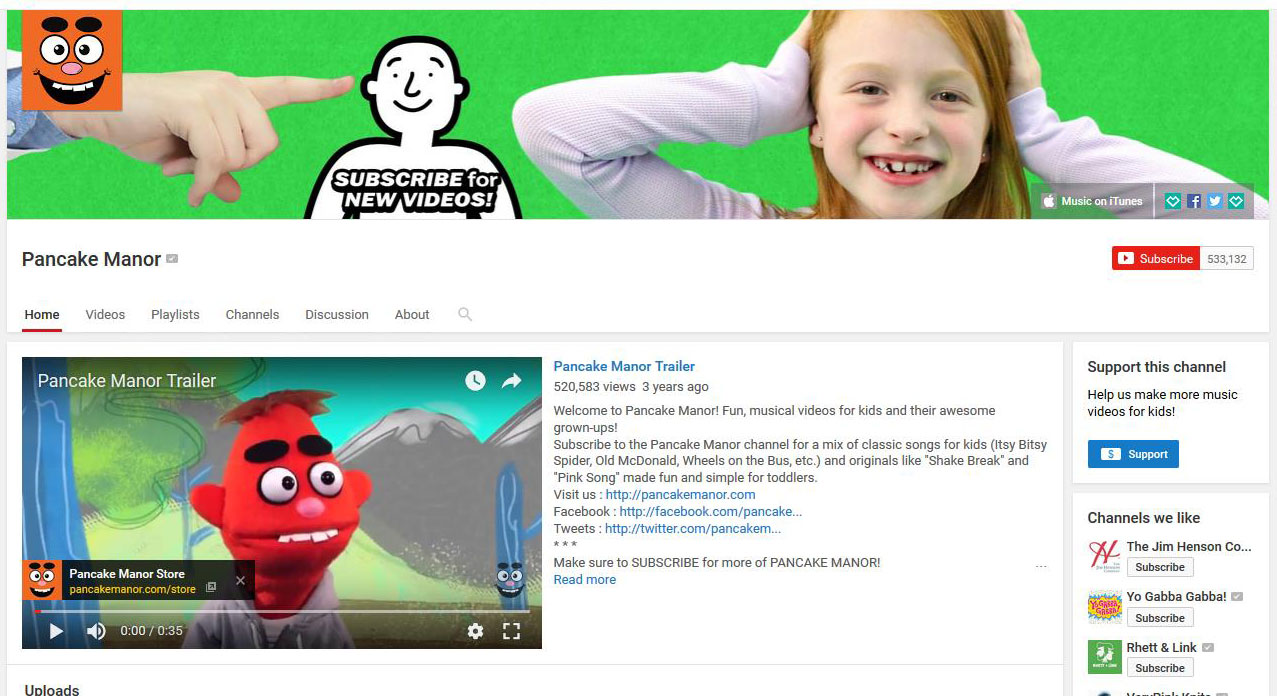 FREE YouTube sites for kindergarten learning