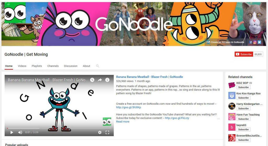 FREE YouTube sites for kindergarten learning