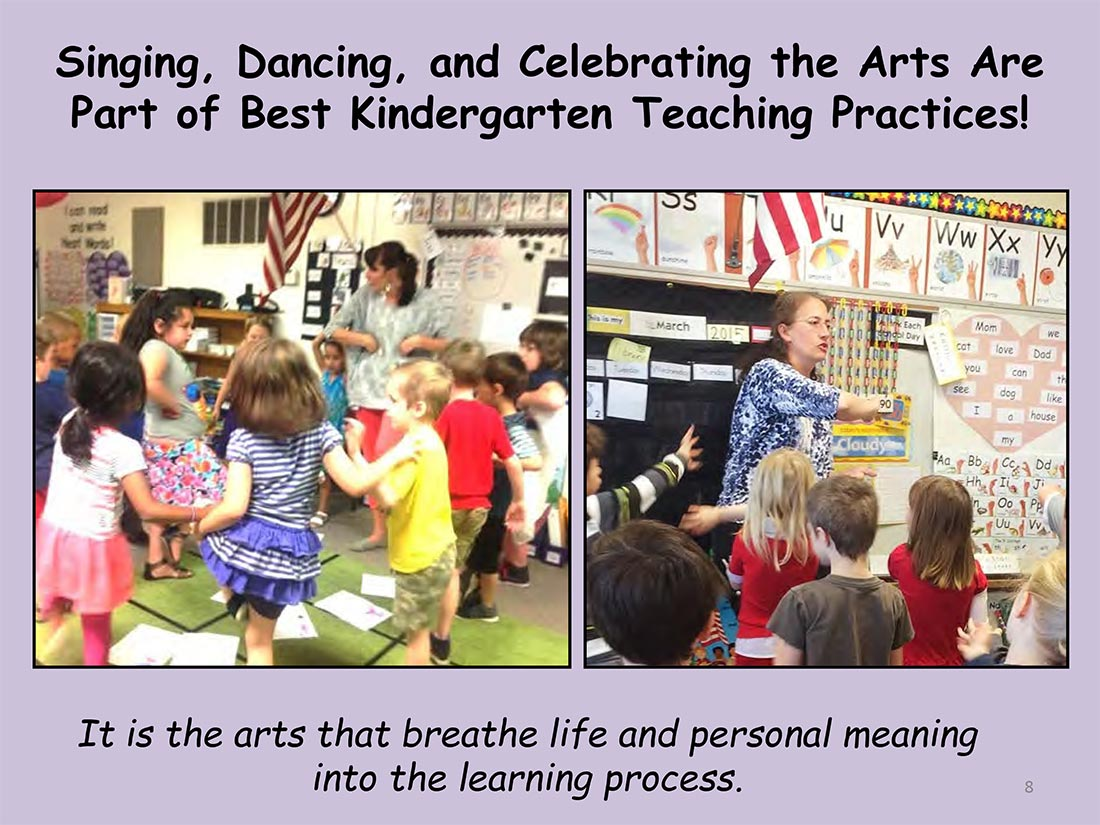 inging, Dancing, and Celebrating the Arts Are Part of Best Kindergarten Teaching Practices!