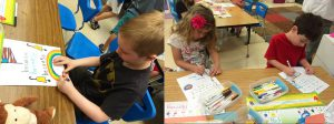 Opinion Writing: Children Illustrate Their Sing, Sign, Spell, and Read Pages for Their Anthology Notebooks