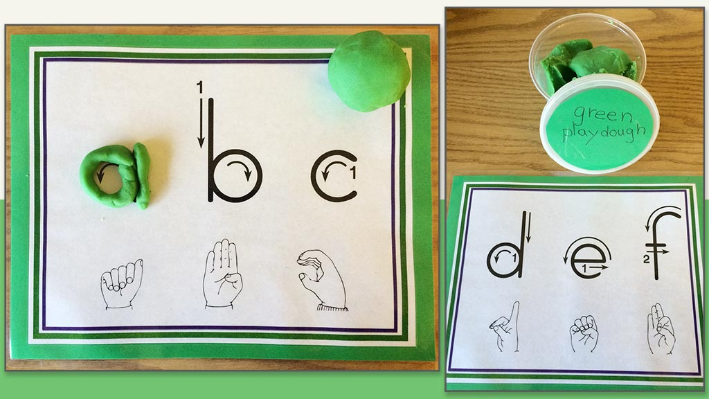 ABC playdough mats