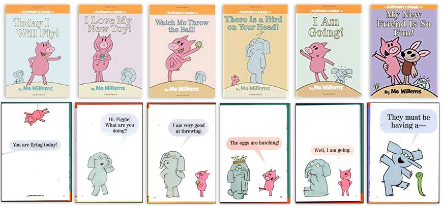 "Elephant and Piggie books - King of ""ing"" Lessons"