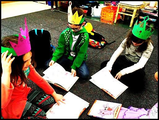"""Some Elephant and Piggie books feature many """"ing"""" words: Time permitting, students can share their book and """"ing"""" word with the class."""