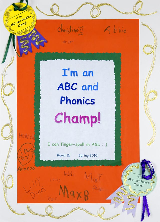 abc champs wall chart