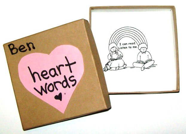 "Boxes for ""Heart Words"""