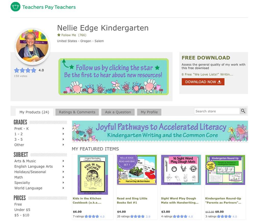tpt - Nellie Edge Teachers Pay Teachers resources