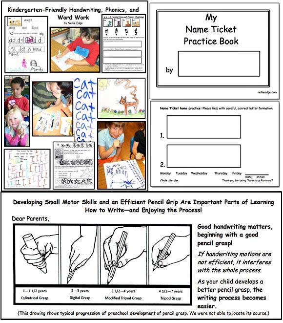 Kindergarten-Friendly Handwriting, Phonics, and Word Work: