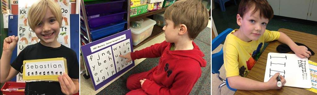 7. Simultaneously incorporate multisensory ABC Phonics Immersion, fingerspelling, and handwriting into a comprehensive writing program