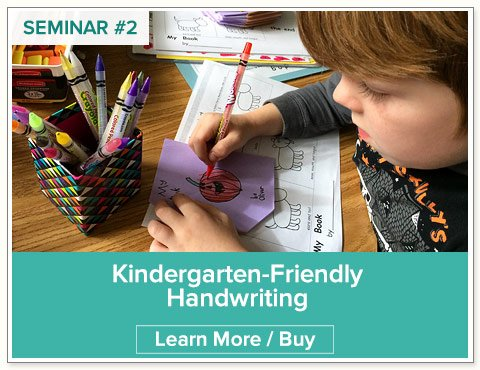 Kindergarten Handwriting Seminar by Nellie Edge