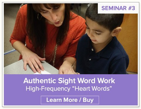 Kindergarten Sight Word Work Seminar by Nellie Edge