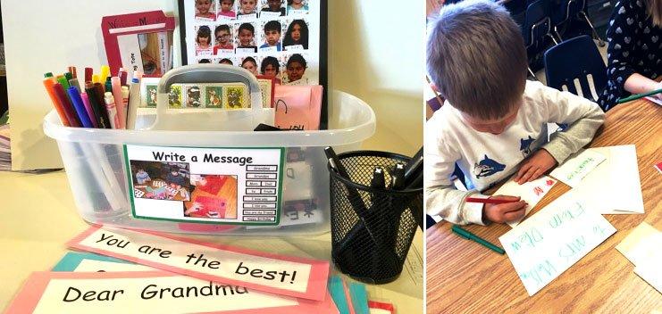 Write a Message templates. Teacher resources for kindergarten classrooms.