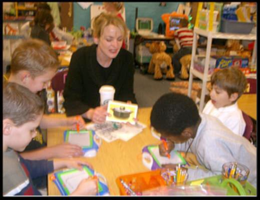 Invite parent volunteers into the classroom and use their skills more effectively. Organize!
