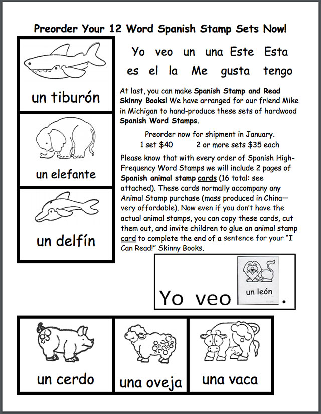 For Teachers: Spanish Resources - Word Stamps