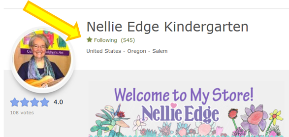Follow Nellie Edge on Teachers Pay Teachers: Save 50%!