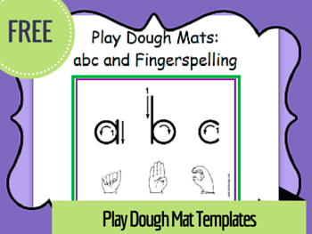 ABC Playdough Mats on TpT